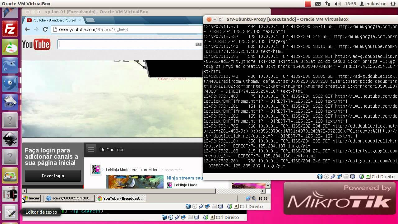 Mikrotik com Squid3 proxy rápido e fácil