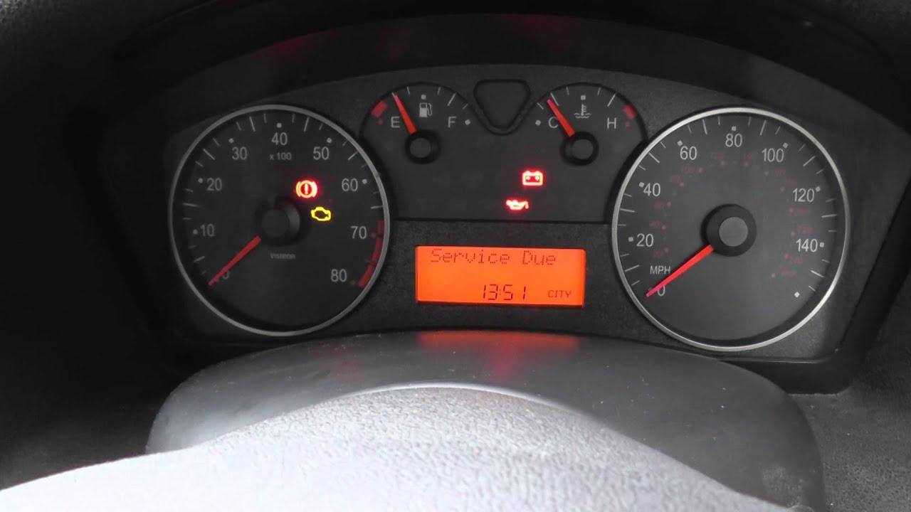 Fiat Stilo Warning Lights on Start Up & Ignition - YouTube