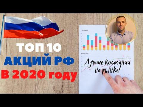 Лучшие акции РФ 2020. Топ 10 российских акций в 2020 году. Какие акции купить?