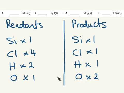 Balancing equations worksheet Q1 - YouTube