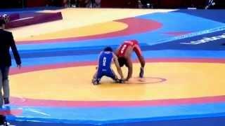 Asgarov (AZE) V Kudukhov (RUS); 2012 Olympics 60kg Gold Medal