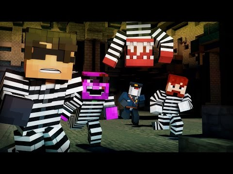 Minecraft Mini-Game: COPS N ROBBERS! (MAD MAX'S BRILLIANT BOOK!)
