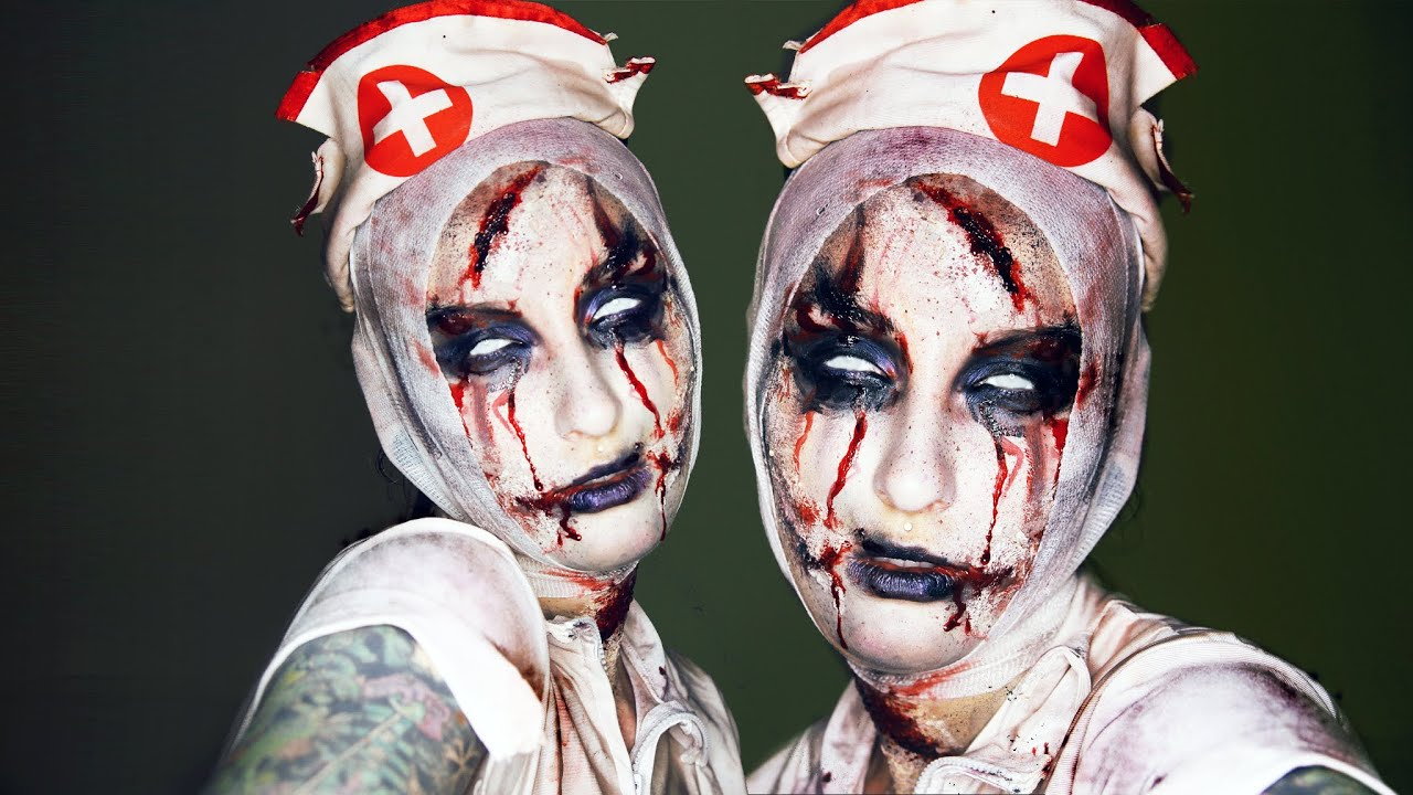 Possessed Scary Nurse Halloween Makeup Transformation / Tutorial ...