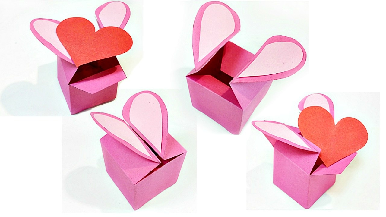 Heart Shaped Gift Box Template Valentine Love Diy Tutorial Making Easy Ideas Secret Message