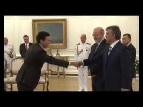 Brazilian ambassador presents letter of credence to Gül