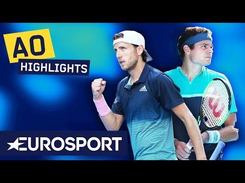 Milos Raonic vs Lucas Pouille Highlights | Australian Open 2019 Quarter-Finals