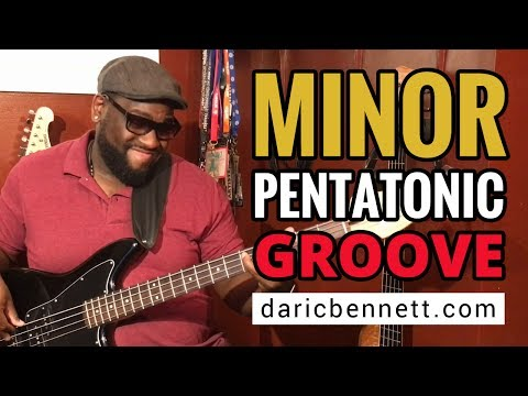 Minor Pentatonic Groove On Bass - Learn To Play Bass Guitar! - Daric Bennett's Bass Lessons