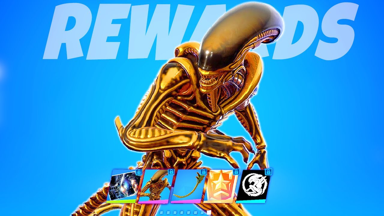 Golden Alien Xenomorph Skin in Fortnite!.. How to get the Secret Golden Xenomorph