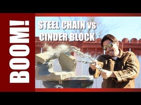 Steel Chain vs Cinder Block! Zombie Go Boom!