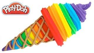Play-Doh How to Make a Rainbow Ice Cream * Fun Creative For Kids * RainbowLearning