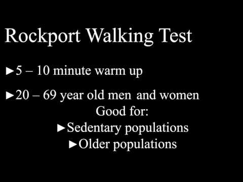 1 mile jog and rockport walk test