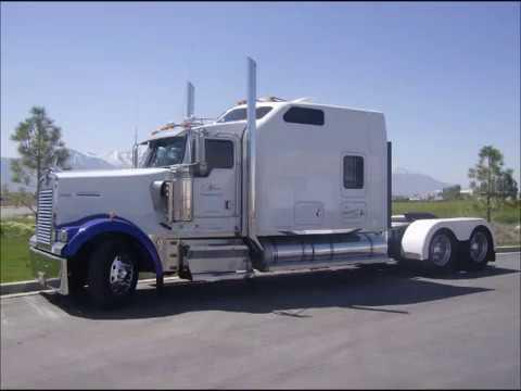 Kenworth w900l custom aerocab sleeper youtube for Custom semi truck sleeper interior