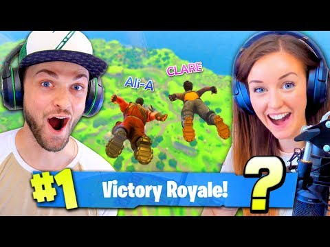 GIRLFRIEND + BOYFRIEND DUOS! (Can we #1 WIN?) - Fortnite: Battle Royale