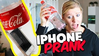 Wie kommt Mamas iPhone in die Colaflasche 😂 ? PRANK ERFOLGREICH! Lulu & Leon - Family and Fun