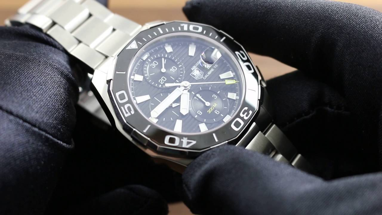 c33040acd77 Tag Heuer Aquaracer 300M Chronograph CAY211A.BA0927 Showcase Review ...
