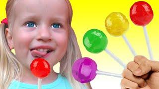 Canción de Color de la familia del dedo | Canción Infantil | Canciones Infantiles con Katya y Dima