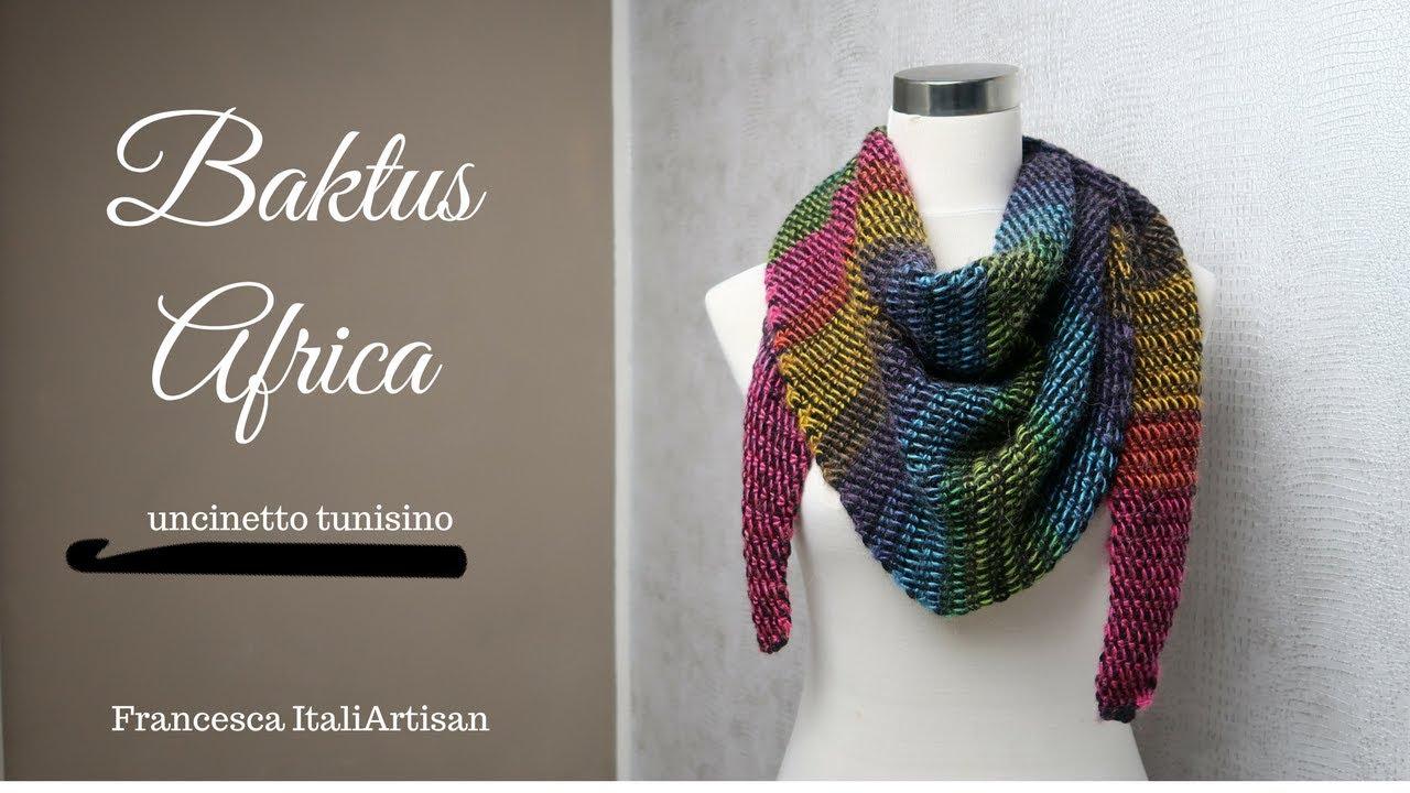 Baktus Africa Sciarpa Triangolare Uncinetto Tunisino Double Facetunisian Crochetafghan Crochet