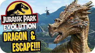 Jurassic World Evolution - Dragon, ESCAPE & Isla Muerta! - Jurassic World Evolution Gameplay