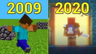 Evolution of Minecraft World 2009-2020