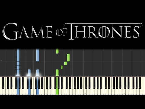 Game of Thrones - Main Theme (Piano Tutorial - Synthesia) [+ sheets] thumbnail