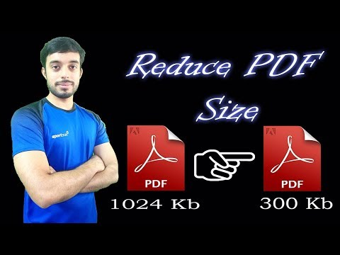 Reduce Pdf Size Without Losing Quality | How To Reduce Pdf File Size To 100kb By Abhishek