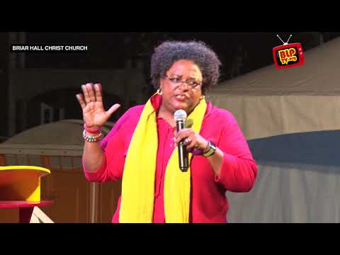 Mia Amor Mottley at the BLP Public Meeting in Briar Hall - Christ Church