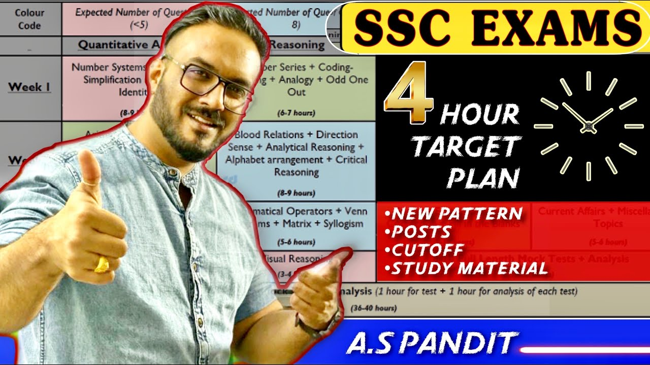 SSC EXAMS | इस TIME TABLE से होगा Selection | Complete Details | SSC CGL | CHSL/MTS/CPO | SSC JE