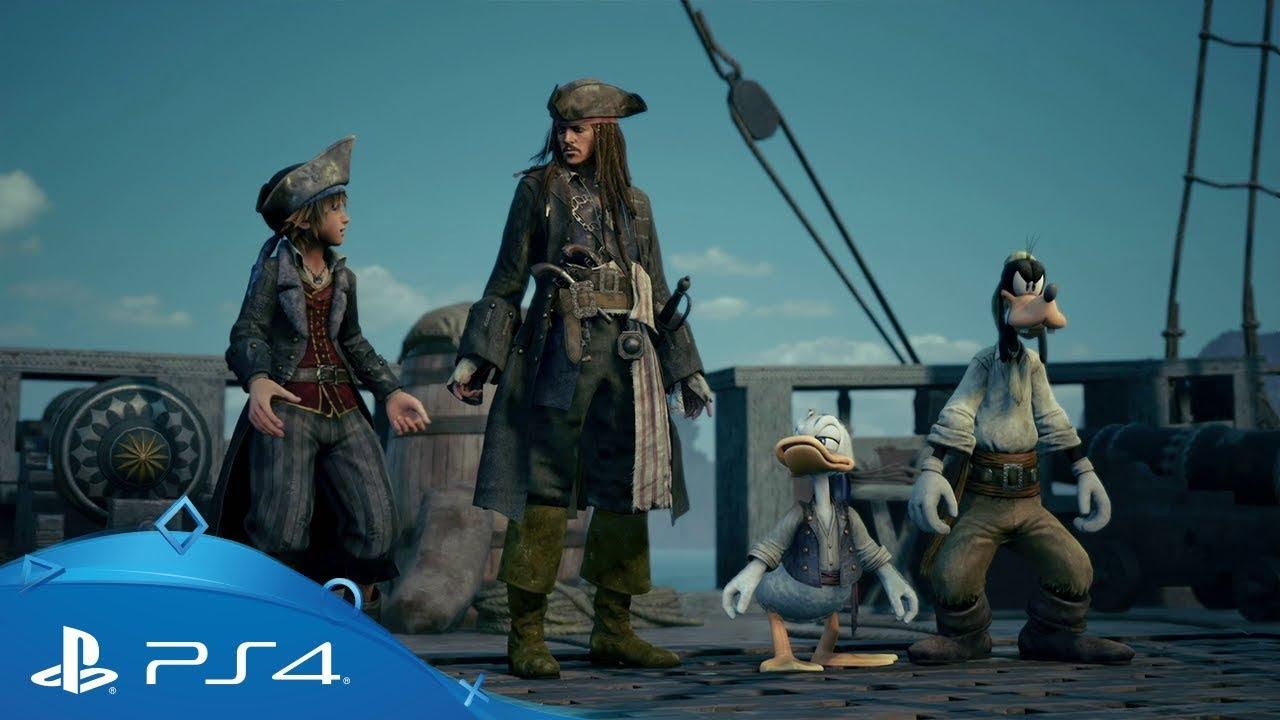 Kingdom Hearts III   E3 2018 Pirates of the Caribbean Trailer   PS4