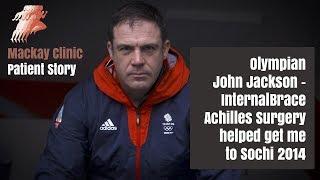 Olympian John Jackson on his pioneering Achilles surgery