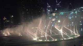 Dubai Fountain Night View -- Burj Khalifa, Burj Dubai