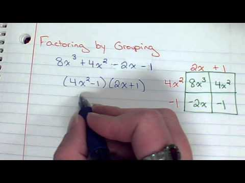 Factoring Cubics By Grouping
