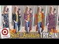 HUGE Target Fall Fashion Try On! | LipglossLeslie