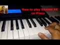 How to play SANAM RE on piano cover by  Harshit Porwal