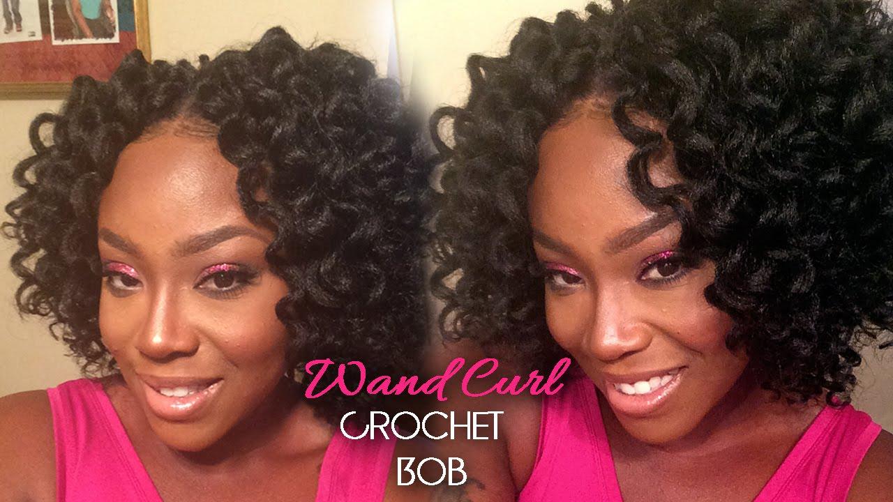 How To Crochet Braid Bob Freetress Wand Curl Hair Youtube