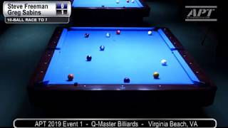 2019 Event 1: Steve Freeman vs Greg Sabins (no audio)
