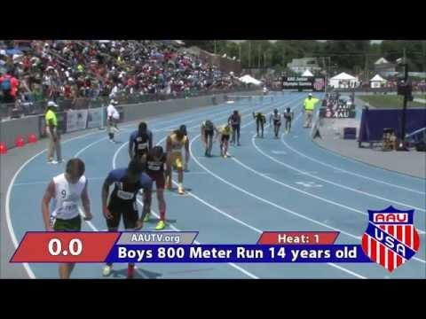 Peter Handy 800 Meter Run (2014 AAU JO Nationals)