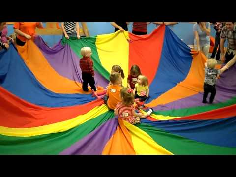 Gymboree Parachute Song - 2nd Birthday Party