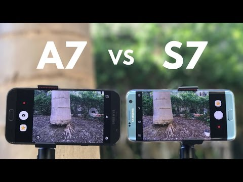 Samsung Galaxy A7 (2017) vs Galaxy S7 Edge Camera Comparison
