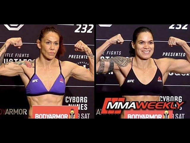 ufc-232-official-weigh-ins-cris-cyborg-vs-amanda-nunes