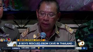 8 boys rescued from cave in Thailand