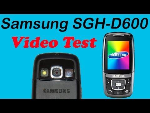 Samsung SGH-D600  VideoTest & Видео тест