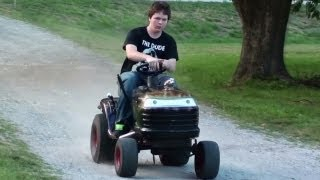 Pulley Swap Speed Test - Hot Rod Lawn Tractor - Racing Lawn Mower