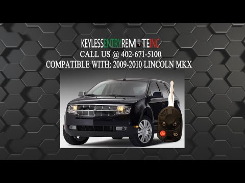 How To Replace Lincoln MKX Key Fob Battery 2009 2010