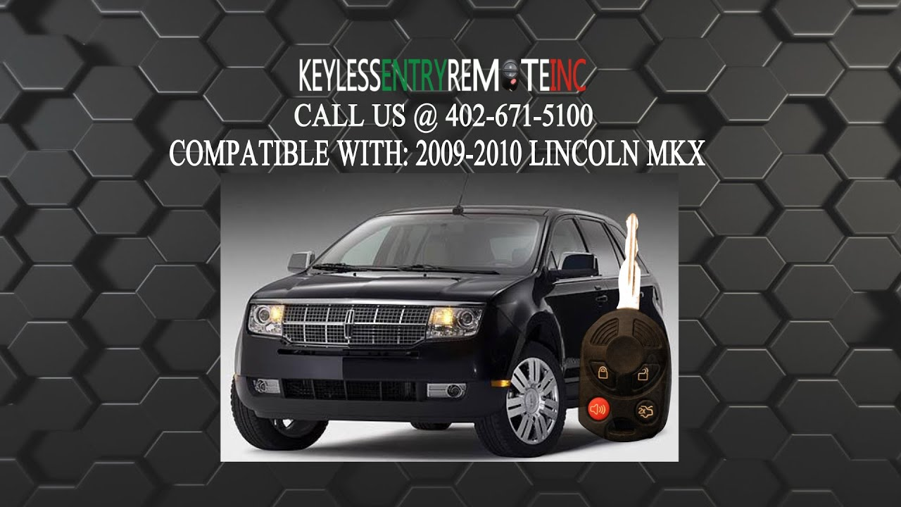 How To Replace Lincoln Mkx Key Fob Battery 2009 2010 Youtube