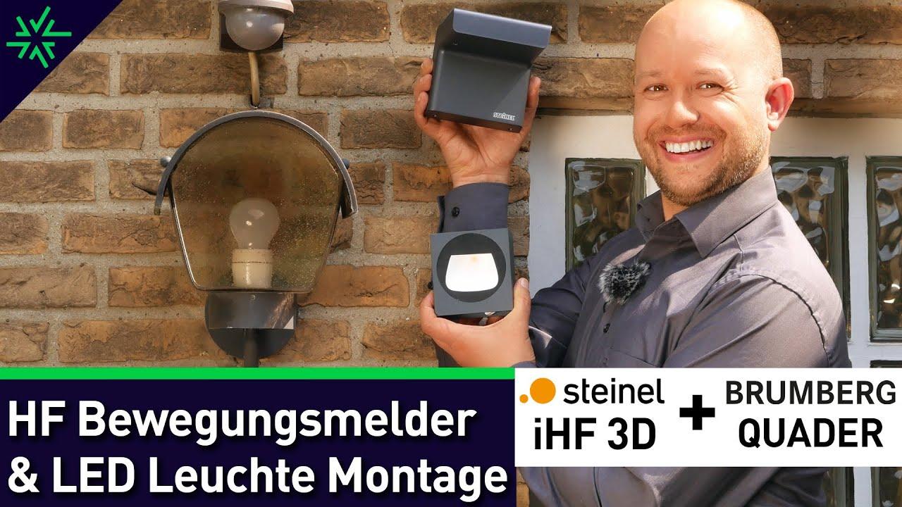 STEINEL Bewegungsmelder iHF 3D mit LED BRUMBERG Quader Montage