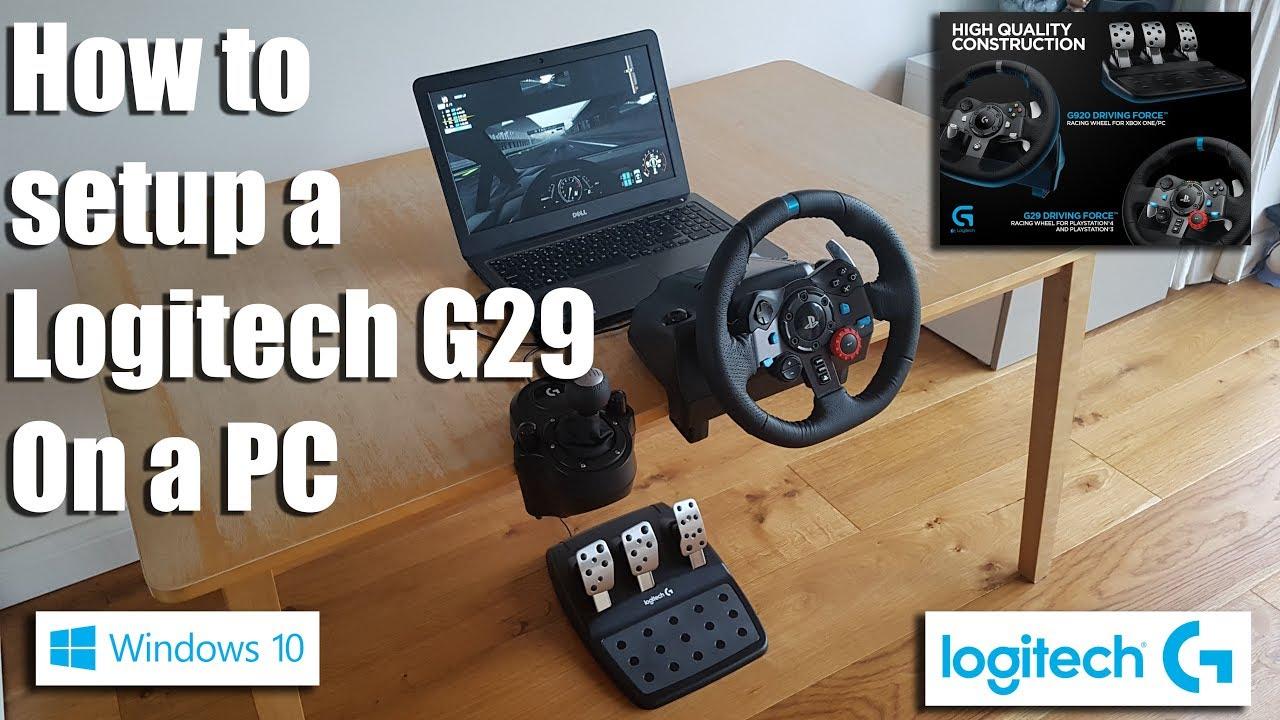 steering wheel pc yamaha g1 electric golf cart wiring diagram how to setup a logitech g29 on youtube geekstreet logitechg29 gamingsteeringwheel