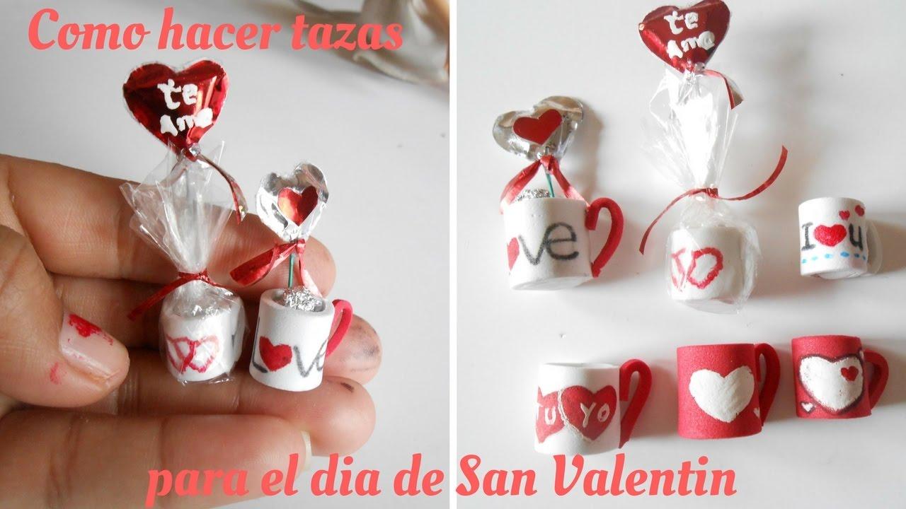 Como hacer tazas regalo de san valentin youtube - Manualidades para hacer en san valentin ...