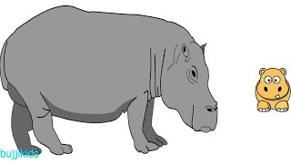 How to Draw Hippo for Kids | Learn to Draw | Hippo Line Drawing and Drawing Ideas