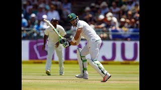 Faf Du Plessis Finishes With A six