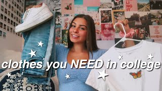 clothes you SHOULD and SHOULD NOT bring to COLLEGE | isabelle dyer